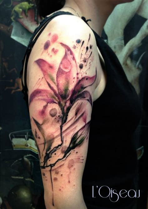 lily quarter sleeve tattoo lily flower tattoo design ideas the xerxes