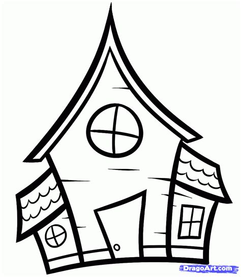 how to draw a haunted house how to draw a haunted house for kids step by step halloween seasonal free online