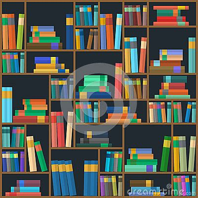 svg pattern library vector of library book background seamless pattern stock