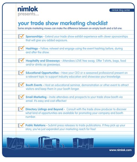 Trade Show Checklist And Marketing Tips Jyler   trade show exhibit marketing checklist