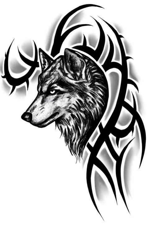 tribal wolf tattoo design by instilledphear on deviantart