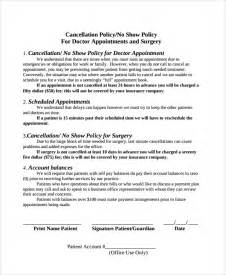 Appointment Letter Cancellation Sample appointment cancellation policy template