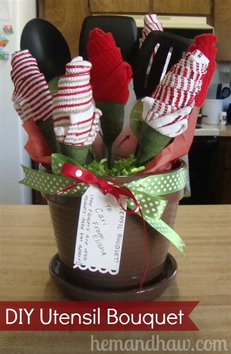 Handmade Bridal Shower Gifts - diy utensil bouquet living well spending less 174