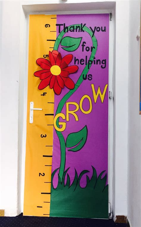 kindergarten door themes thank you for helping us grow bulletin boards spring