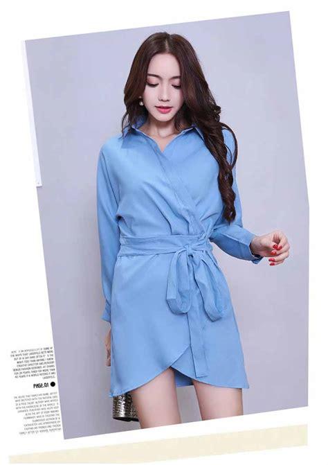 Harga Kemeja Wanita Korea Lengan Panjang by Dress Lengan Panjang Model Kemeja Cantik Toko Baju