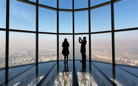 tallest observation decks the world s tallest glass bottomed observation deck is