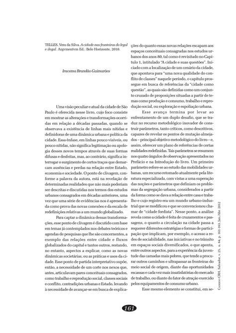 (PDF) A cidade nas fronteiras do legal e ilegal