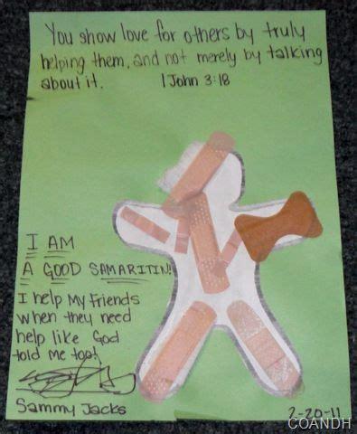craft idea for good samaritan the good samaritan pinterest