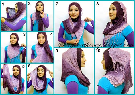tutorial hijab paris beserta gambar hijab tutorial rahma o shop supplier baju hijabers