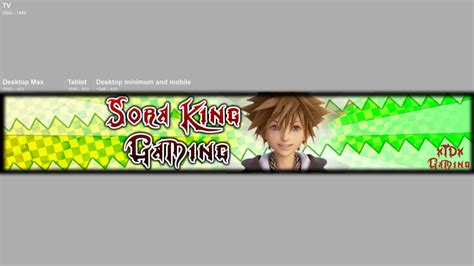 Soraking Gaming Channel Banner By Xtdxgraphics On Deviantart Channel Banner Template Png