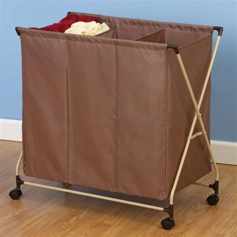 two compartment laundry laundry sorter with 3 compartments