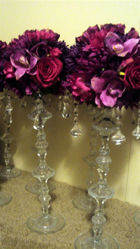 Floral and crystal centerpieces   Weddingbee Classifieds