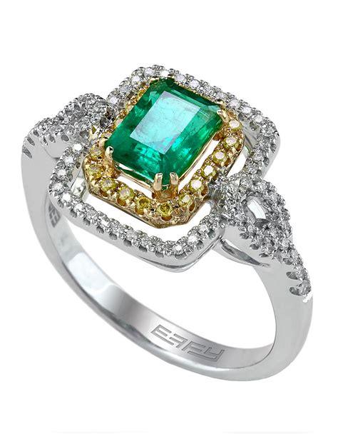 effy brasilica 14kt yellow and white gold emerald