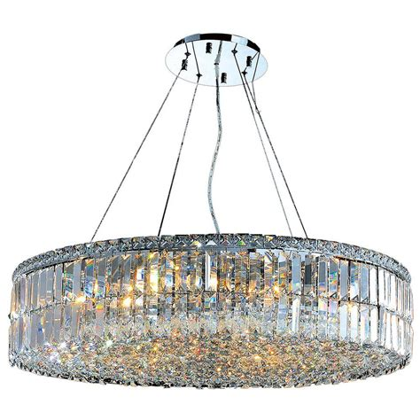 Circular Chandelier Lighting Worldwide Lighting Cascade Collection 18 Light And Chrome Chandelier W83504c32 The