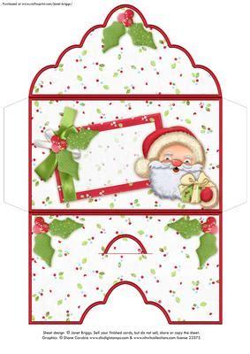 blank christmas money wallet envelope santa hugs cup craftsuprint