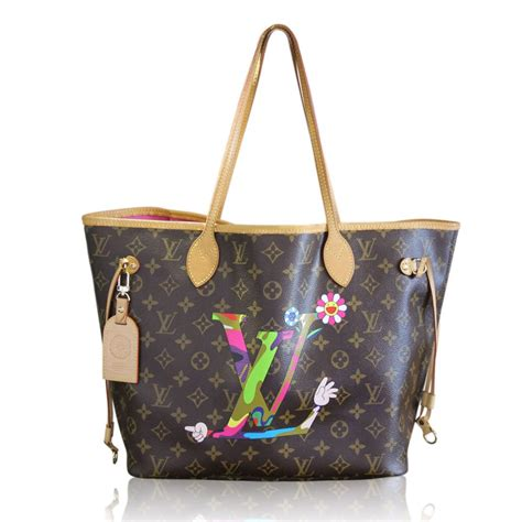 Limited Edition Louis Vuitton Murakami Neverfull louis vuitton murakami neverfull mm limited edition tote