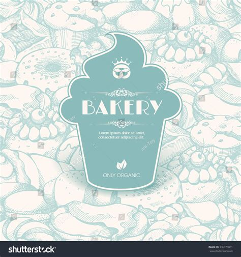 cupcake banner template vintage template label sticker form cupcake stock vector