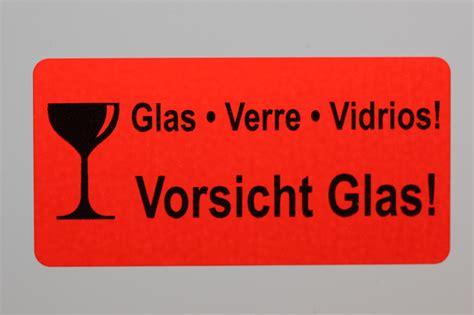 Paket Zerbrechlich Aufkleber Dhl by 50 X Kleines Etikett Vorsicht Glas 51x25 Mm Aufkleber 50