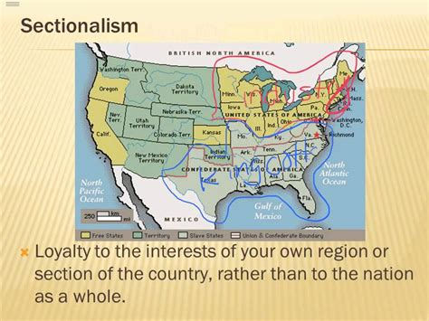 sectionalism civil war definition road to civil war sectionalism youtube