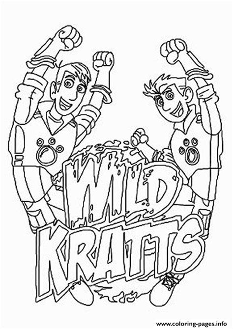 printable coloring pages wild kratts wild kratts the logo coloring pages printable