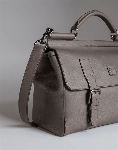 Dolce And Gabbana Travel Bag dolce gabbana sicily travel bag in leather in gray for