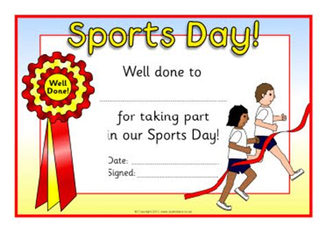 sports day certificate template sports day certificates sb8249 sparklebox