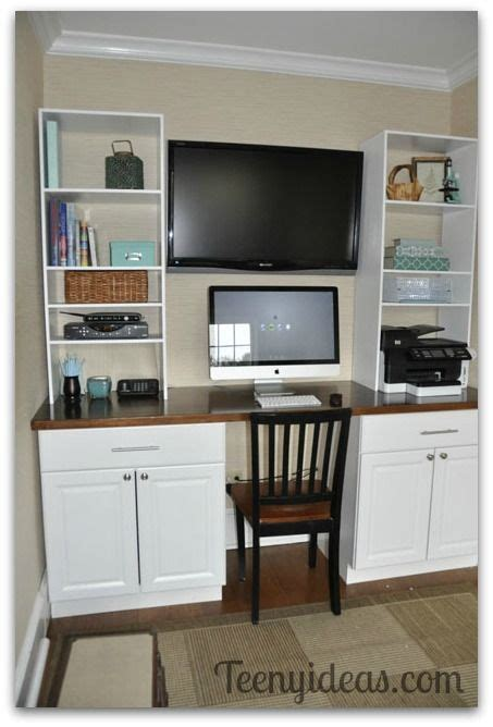 Diy Kitchen Desk Diy Office Built Ins Using Stock Kitchen Cabinets And