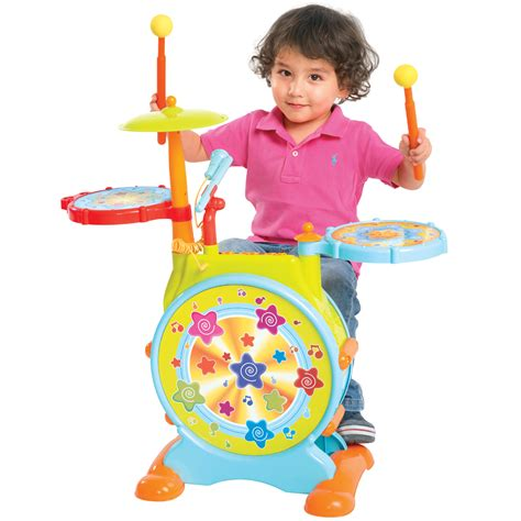 Toddler Keyboard And Stool by Electronic Drum Set With Adjustable Sing Along