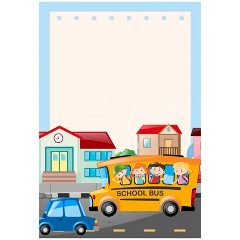 background design school school bus background design vector free download