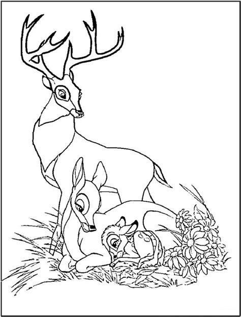 deer family coloring page 87 best images about z coloring disney dumbo bambi on