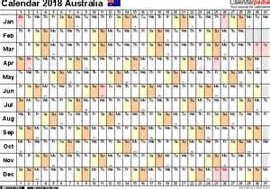 Calendar For Year 2018 Australia Australia Calendar 2018 Free Printable Excel Templates