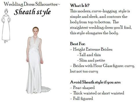 Sheath wedding dress  perfect for tall and thin, or petite