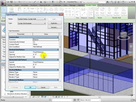how to create a curtain wall in revit revit architecture creating curtain wall types and grid