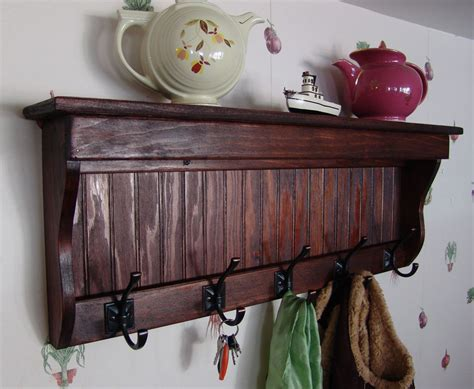 Coat And Key Rack by 35 Handcrafted Wooden Wall Mount Coat Rack Display Shelf