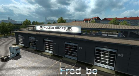large garage large garage spt service ets2 version 1 22 xx big garage wolter koops 1 22 x mod euro truck simulator 2