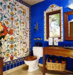mexican tile bathroom ideas marin decorators showcase house faux tile mural