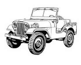 Willys Military Jeep Drawings Sketch Coloring Page sketch template