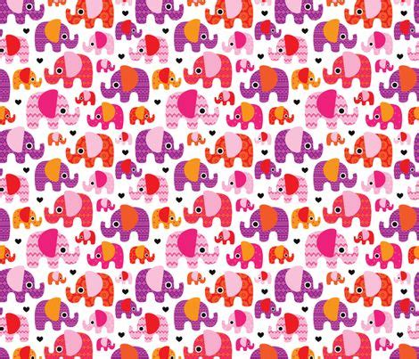 pink elephant wallpaper pink hot aztec elephant parade fabric by littlesmilemakers