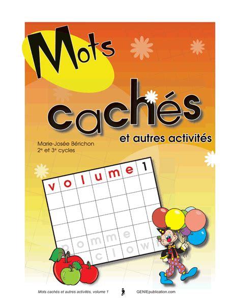 Mots Cach 233 S Et Autres Activit 233 S 1 G 233 Niepublication