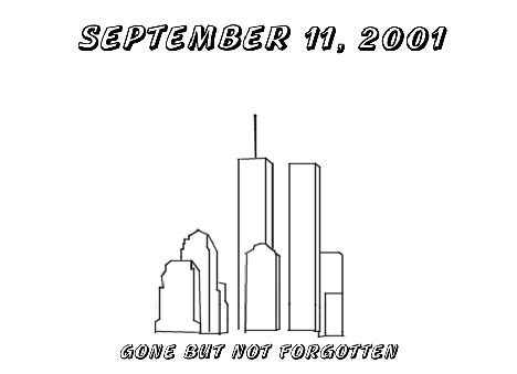 coloring pages of world trade center september 11 patriot day for families a remembrence page