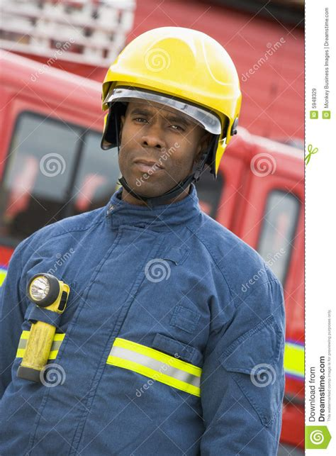 portrait of a firefighter royalty free stock images