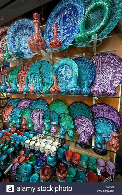 colorful plates colorful plates in the grand bazaar istanbul turkey