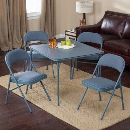 walmart card table and chair set meco sudden comfort deluxe padded chair and back 5