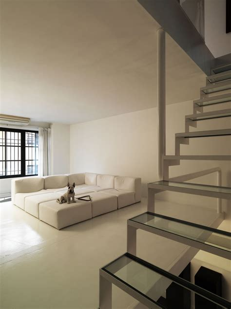 minimalist home design ideas comfortable sofa bed on white floor in minimalist ideas