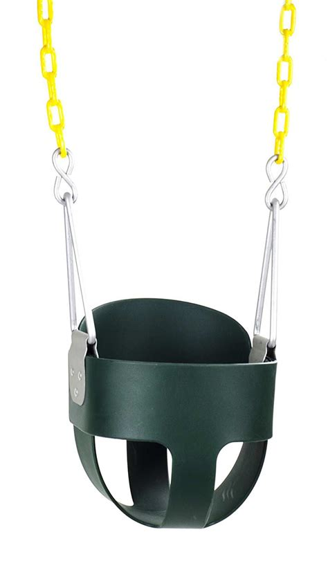 toddler bucket swing with chain high back full bucket toddler swing seat with plastic