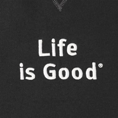 Lifeisgood Sweatshirt Black s black is go to crew sweatshirt is