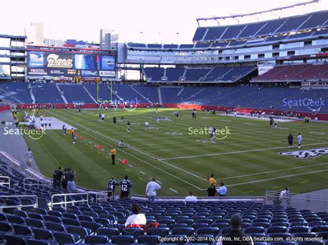 section 106 gillette stadium gillette stadium section 101 seat views seatgeek