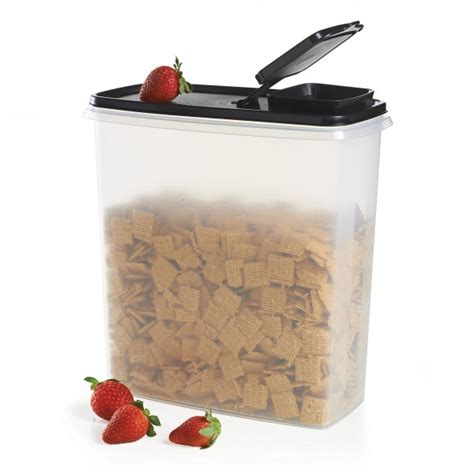 Tupperware Crispy Storer 1 modular mates 174 cereal storer black