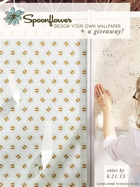 design your own wallpaper for your home design your own spoonflower wallpaper a giveaway