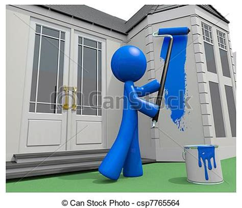 looking for a man who paints houses dessin de bleu sien maison peinture peinture rouleau